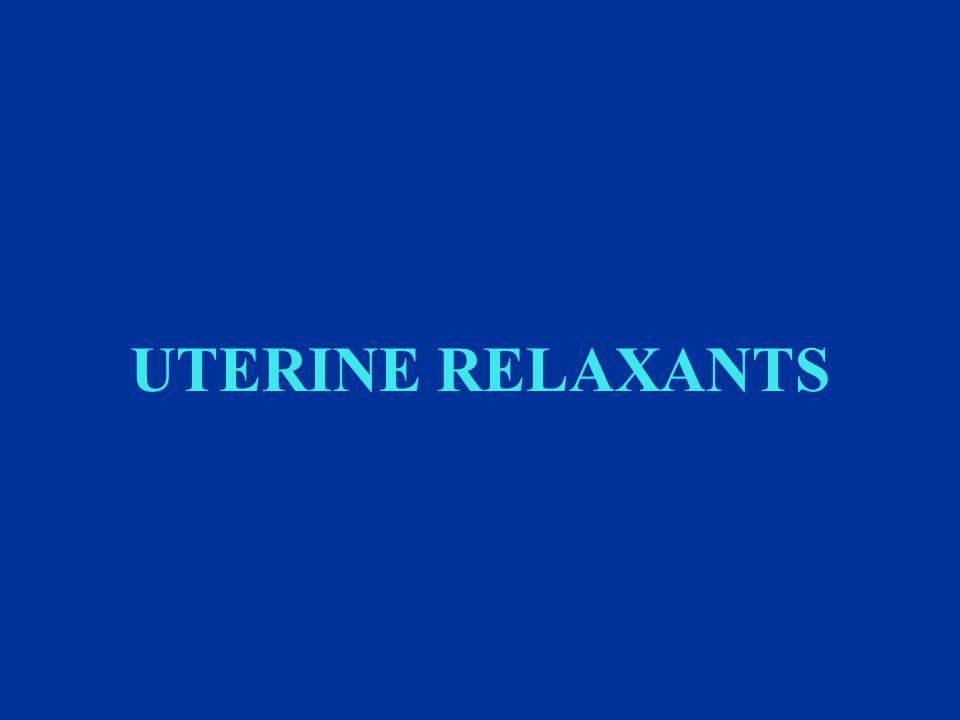 UTERINE RELAXANTS