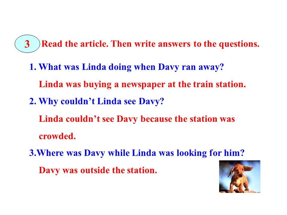 3 Read the article. Then write answers to the questions.