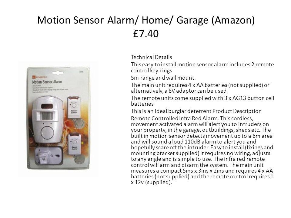 Motion Sensor Alarm/ Home/ Garage (Amazon) £7.40