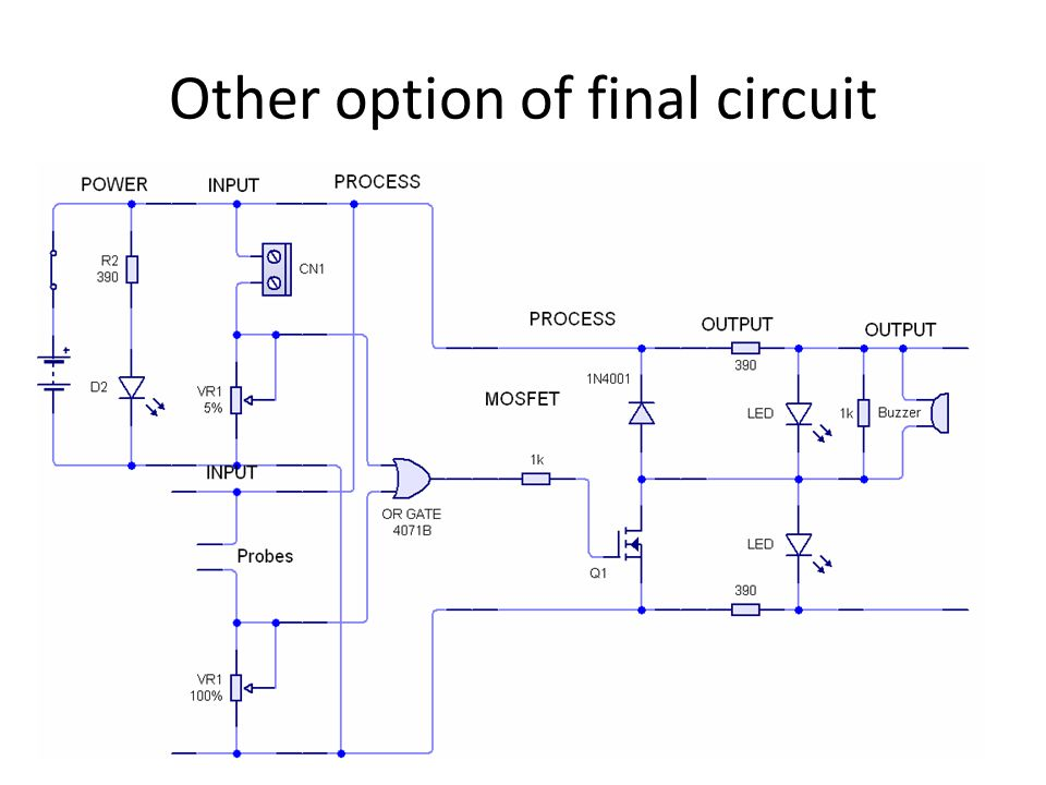 Other option of final circuit