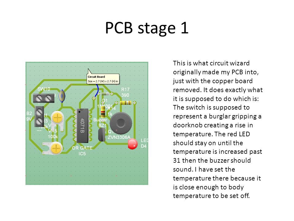 PCB stage 1