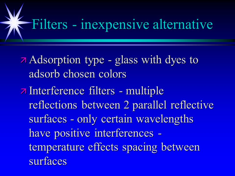 Filters - inexpensive alternative