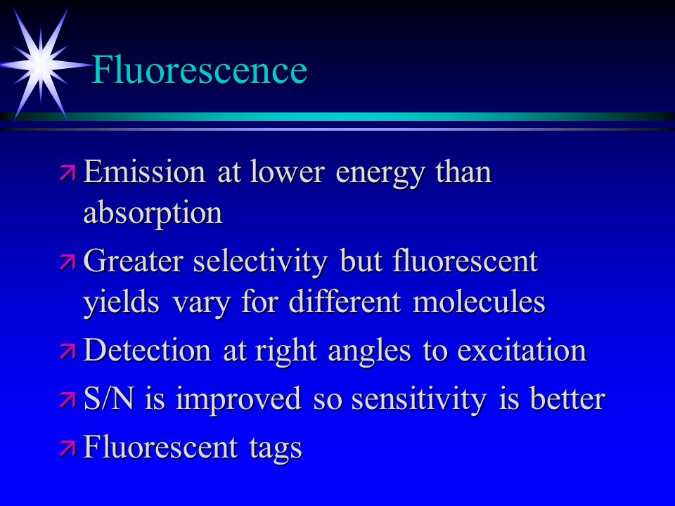 Fluorescence Emission at lower energy than absorption