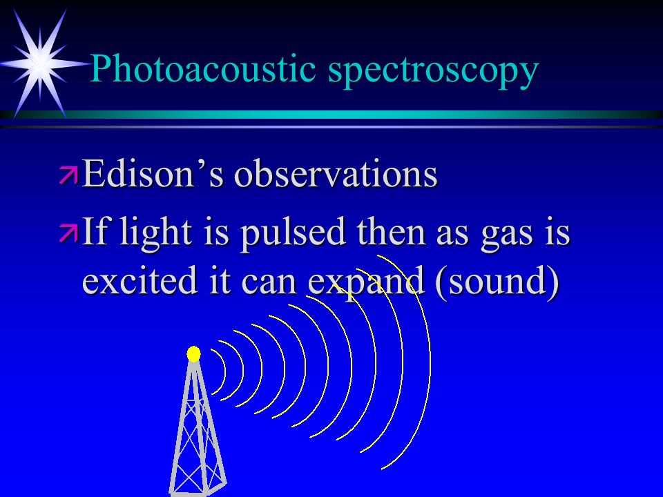 Photoacoustic spectroscopy