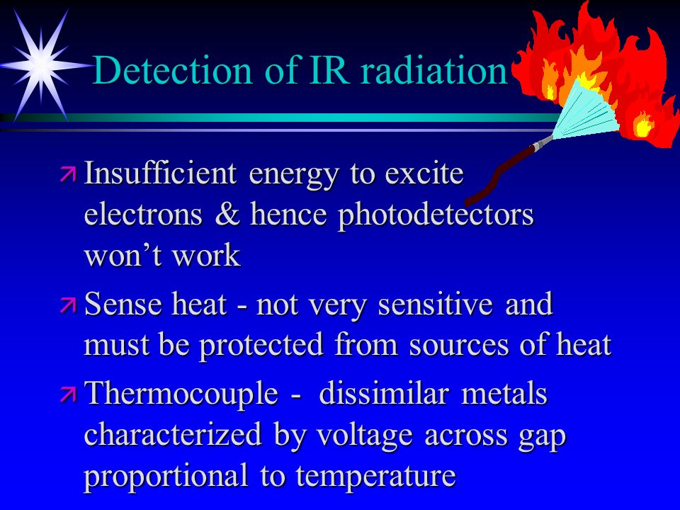 Detection of IR radiation