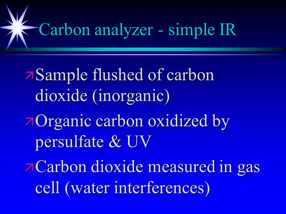 Carbon analyzer - simple IR