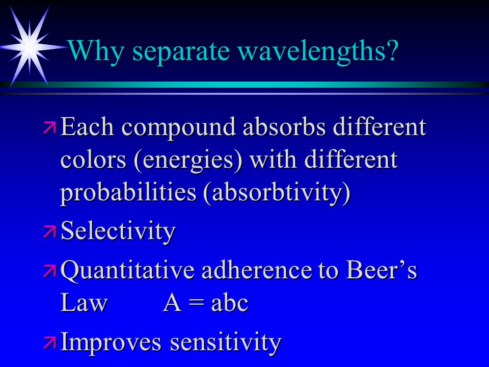 Why separate wavelengths