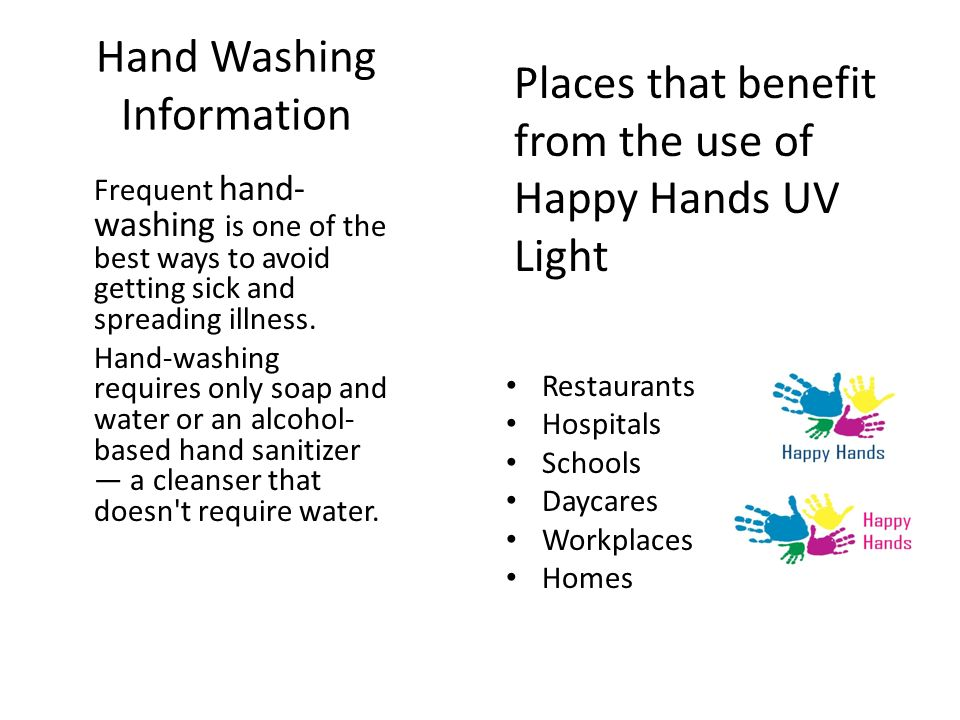 Hand Washing Information