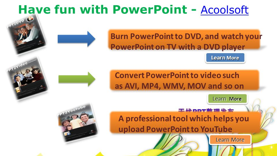 Have fun with PowerPoint - Acoolsoft