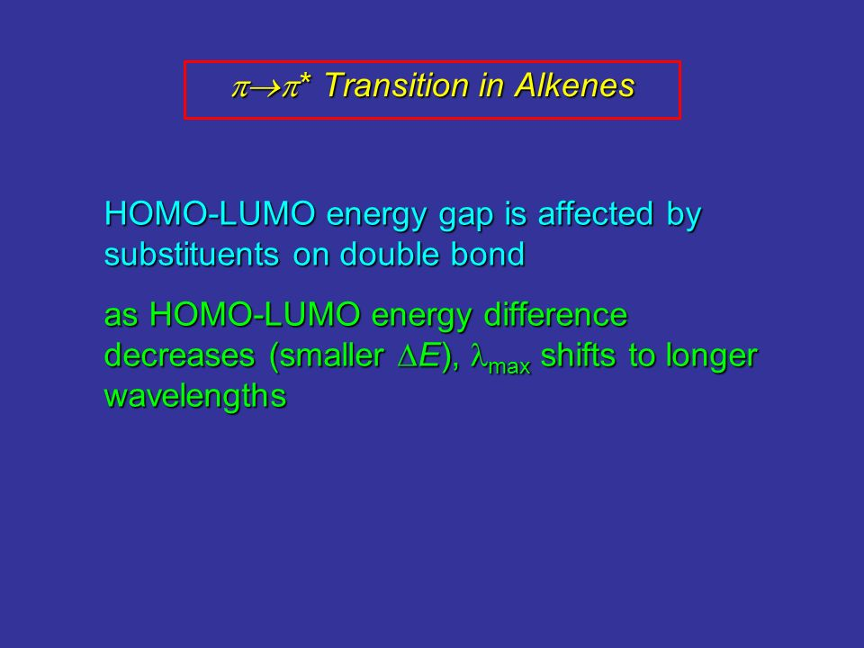* Transition in Alkenes