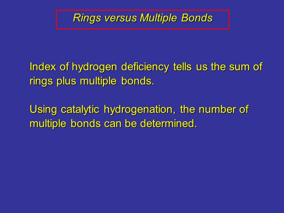 Rings versus Multiple Bonds