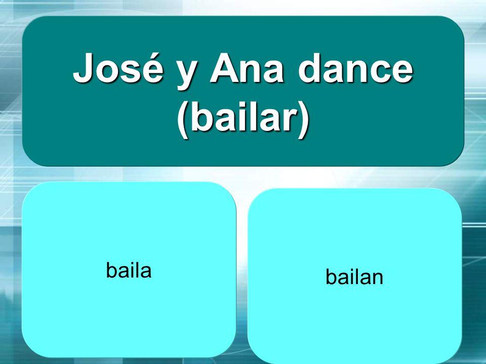 José y Ana dance (bailar)