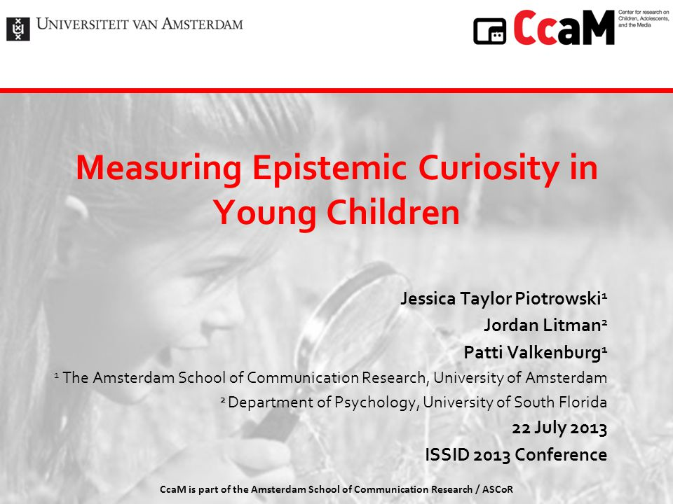 Measuring Epistemic Curiosity in Young Children