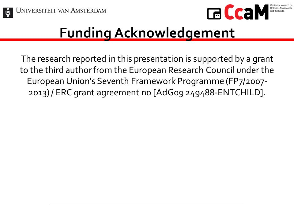 Funding Acknowledgement