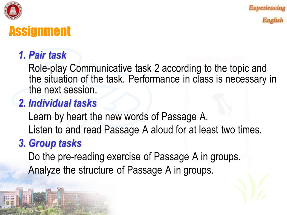 Assignment 1. Pair task.