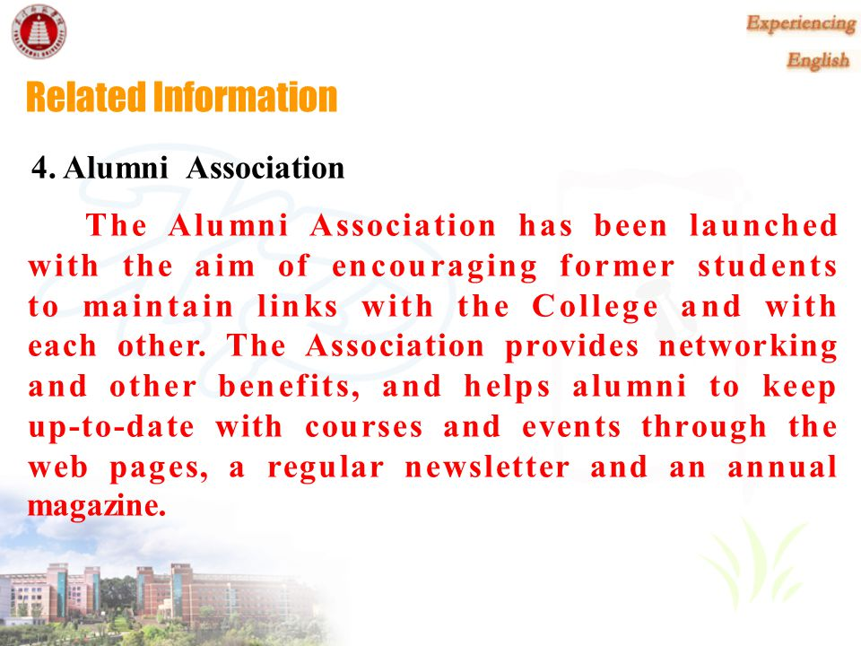 Related Information 4. Alumni Association