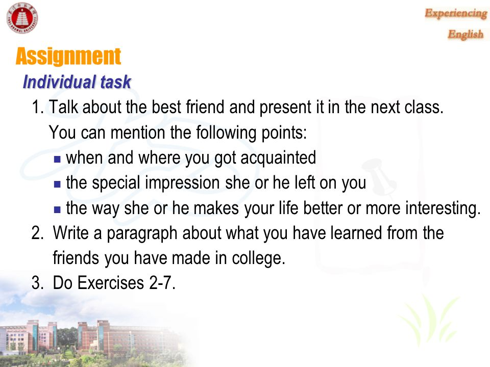 Assignment Individual task