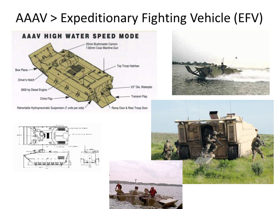 AAAV > Expeditionary Fighting Vehicle (EFV)