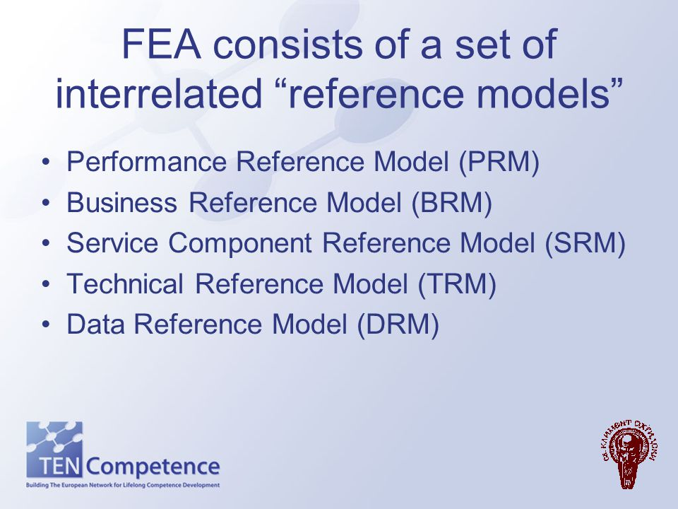 FEA consists of a set of interrelated reference models