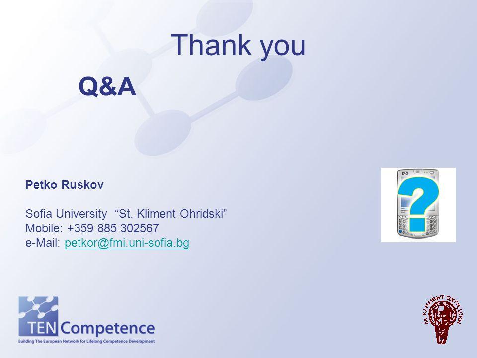 Thank you Q&A Petko Ruskov Sofia University St. Kliment Ohridski