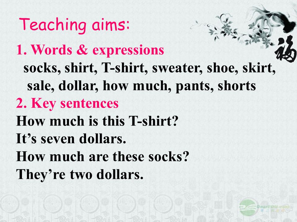 Teaching aims: 1. Words & expressions