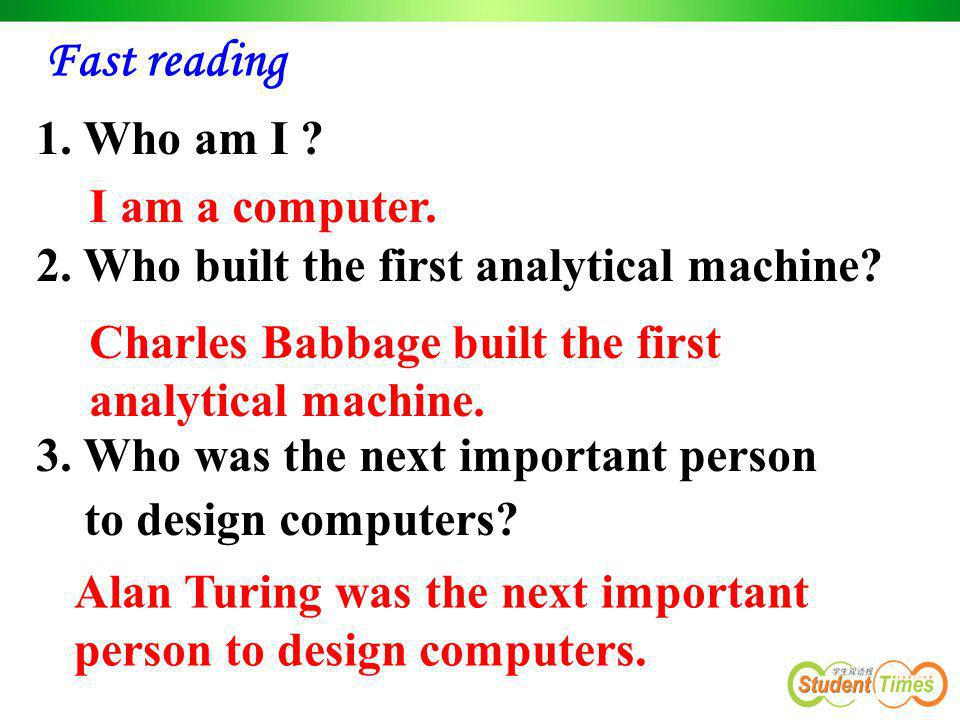 2. Who built the first analytical machine