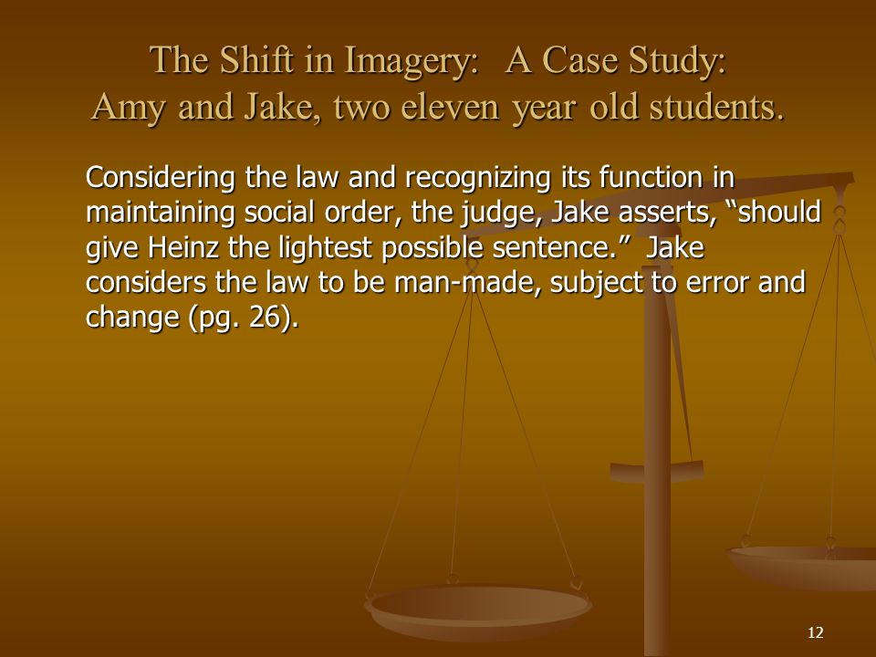 The Shift in Imagery: A Case Study: Amy and Jake, two eleven year old students.