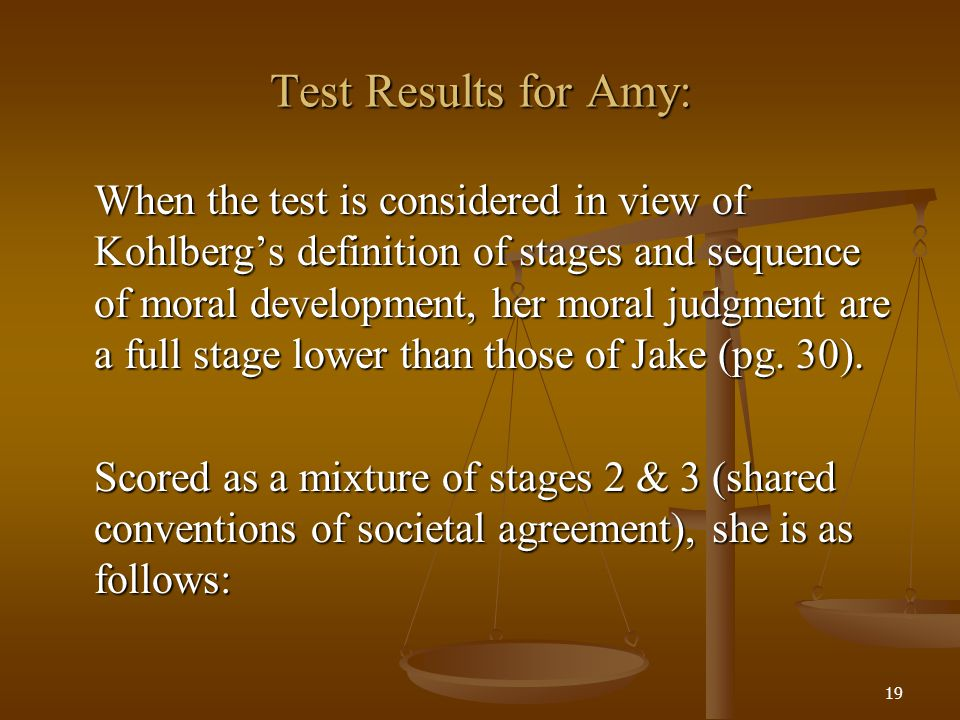 Test Results for Amy: