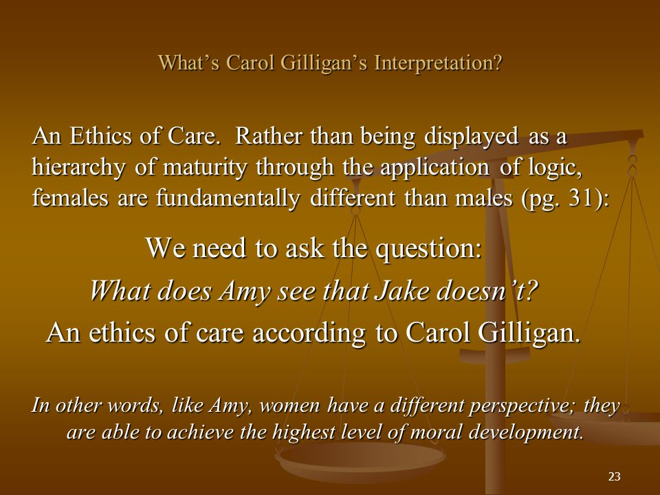 What's Carol Gilligan's Interpretation