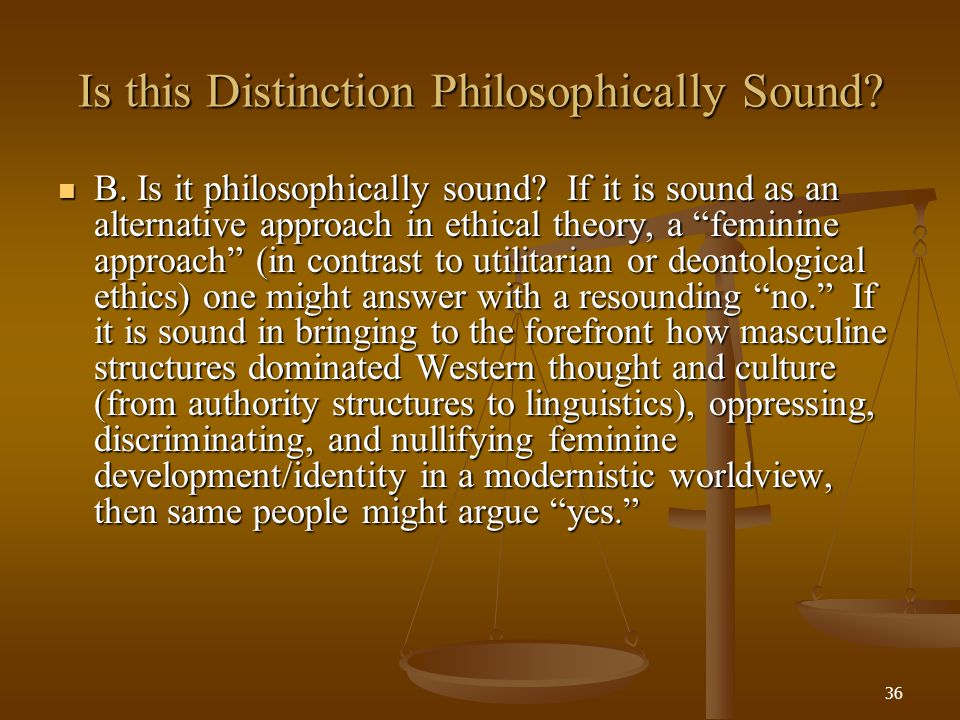 Is this Distinction Philosophically Sound