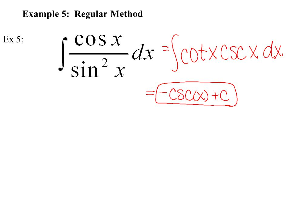 Example 5: Regular Method