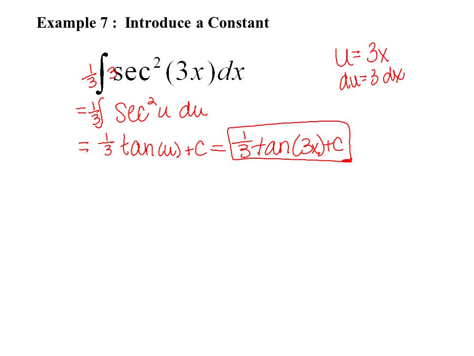 Example 7 : Introduce a Constant