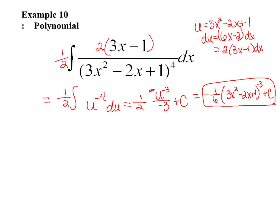 Example 10 : Polynomial