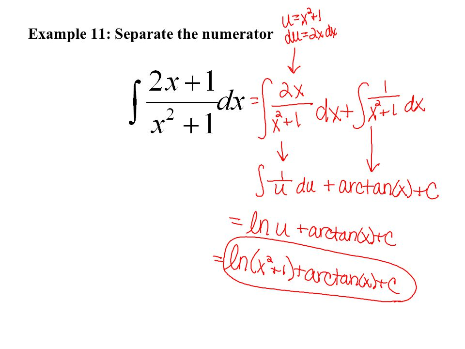Example 11: Separate the numerator