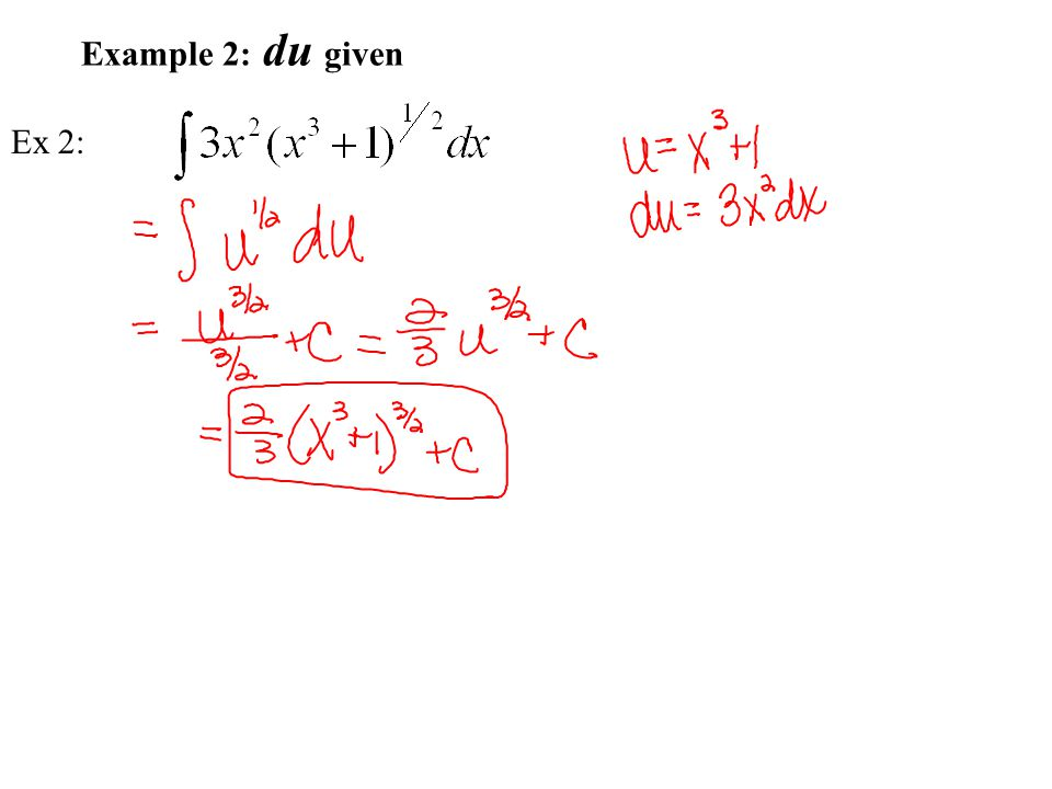 Example 2: du given Ex 2: