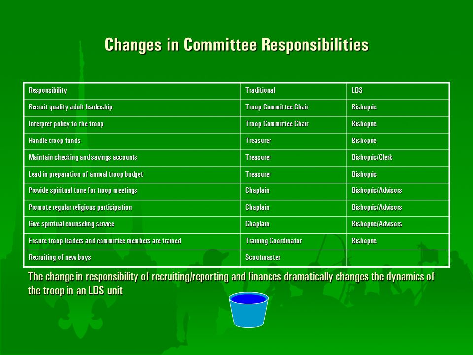 Changes in Committee Responsibilities