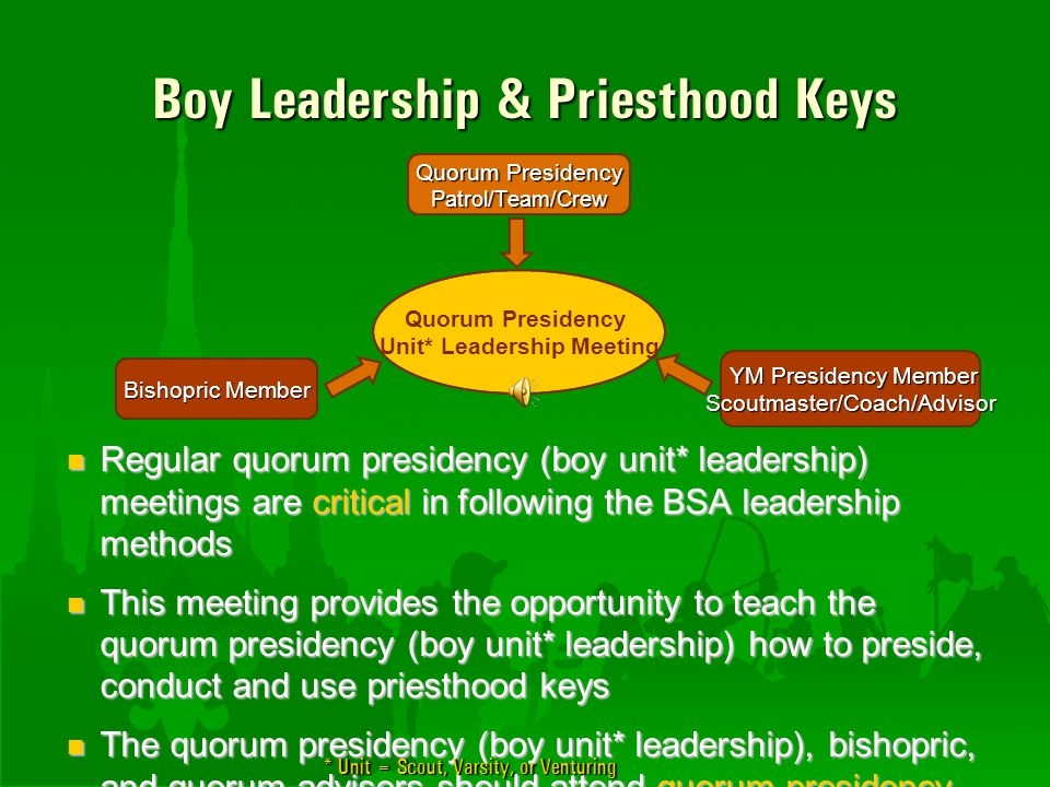 Boy Leadership & Priesthood Keys