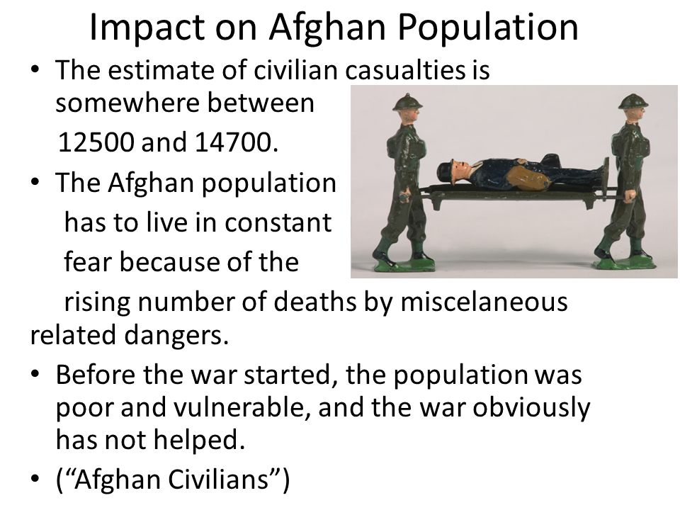 Impact on Afghan Population