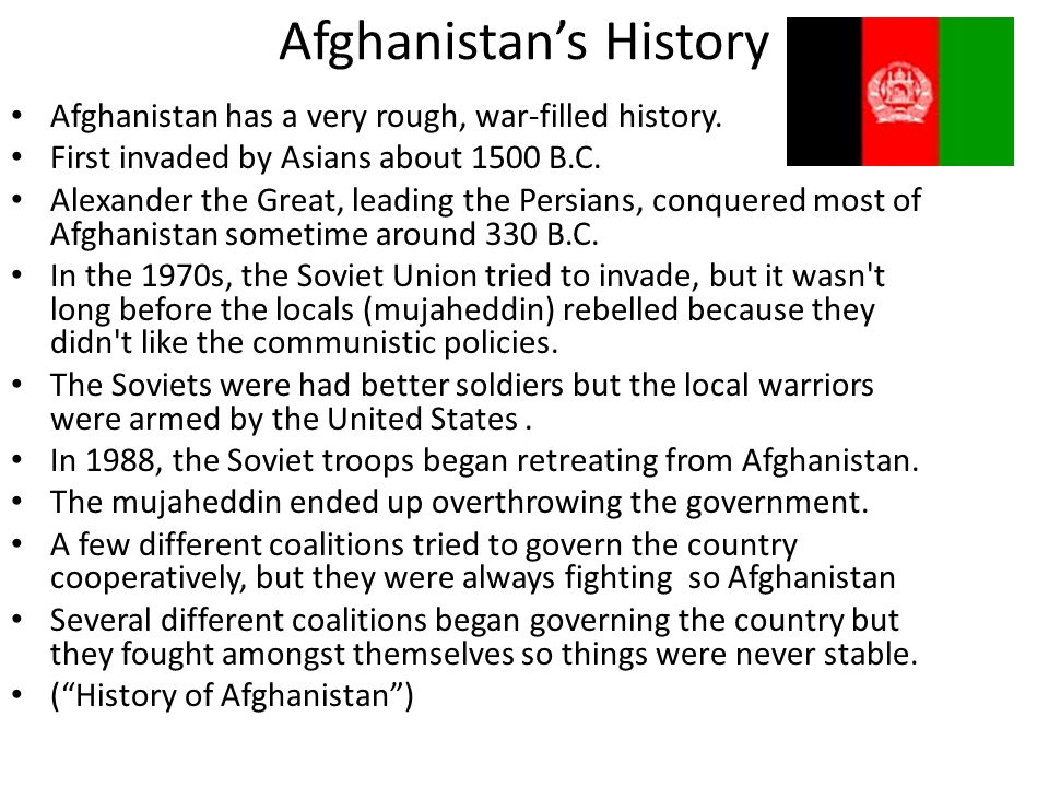 Afghanistan's History
