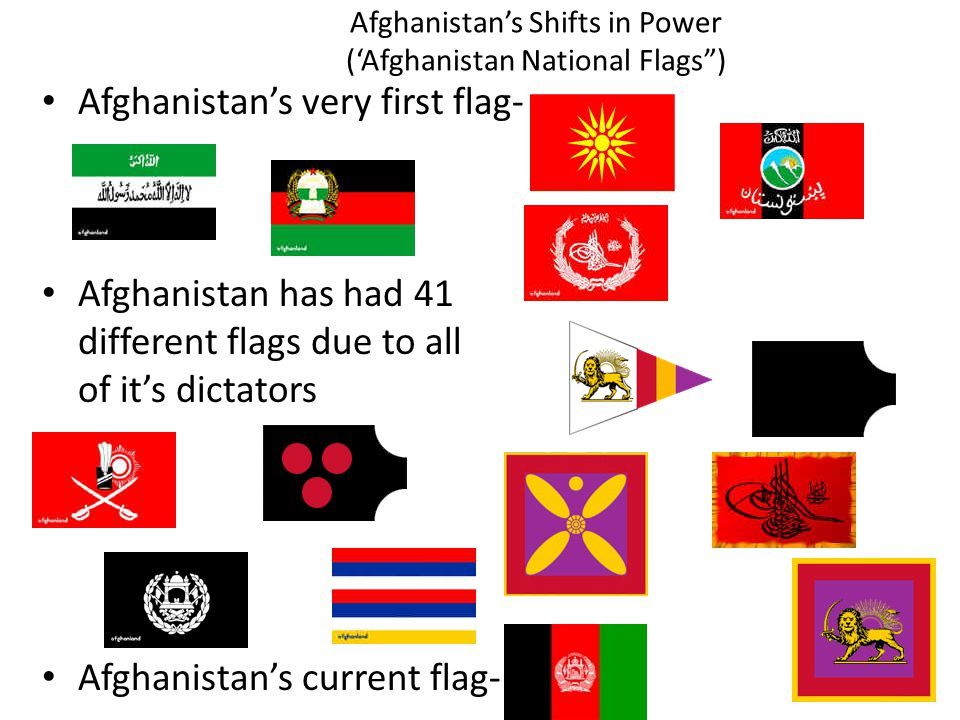 Afghanistan's Shifts in Power ('Afghanistan National Flags )