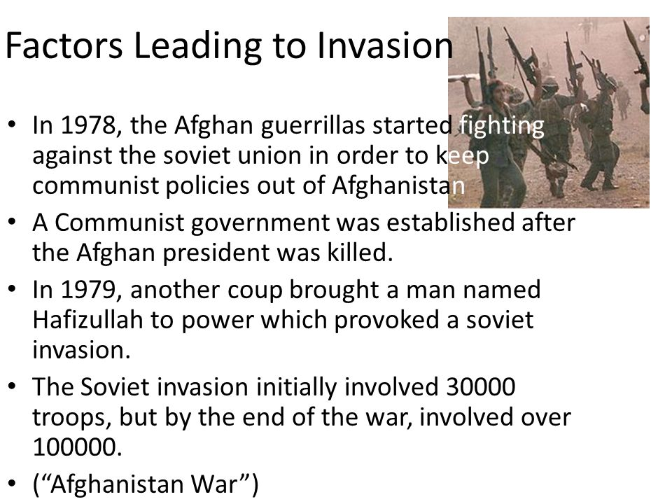 Factors Leading to Invasion