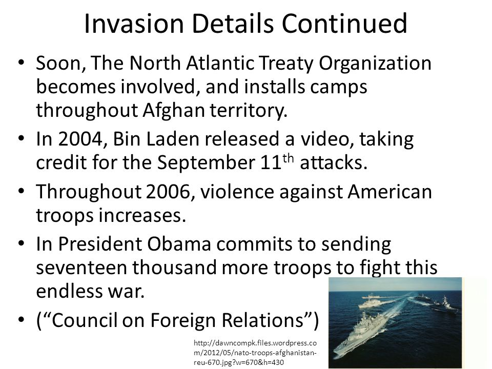 Invasion Details Continued