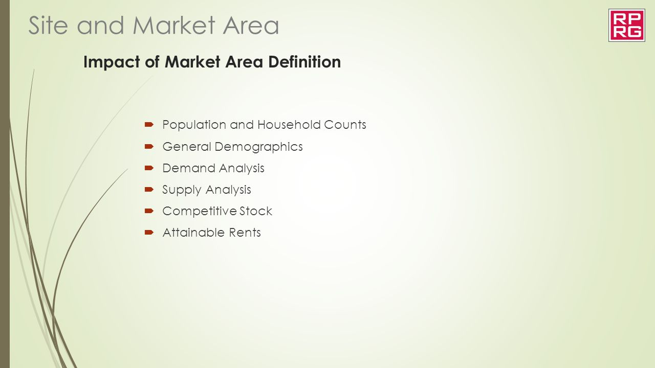 Impact of Market Area Definition