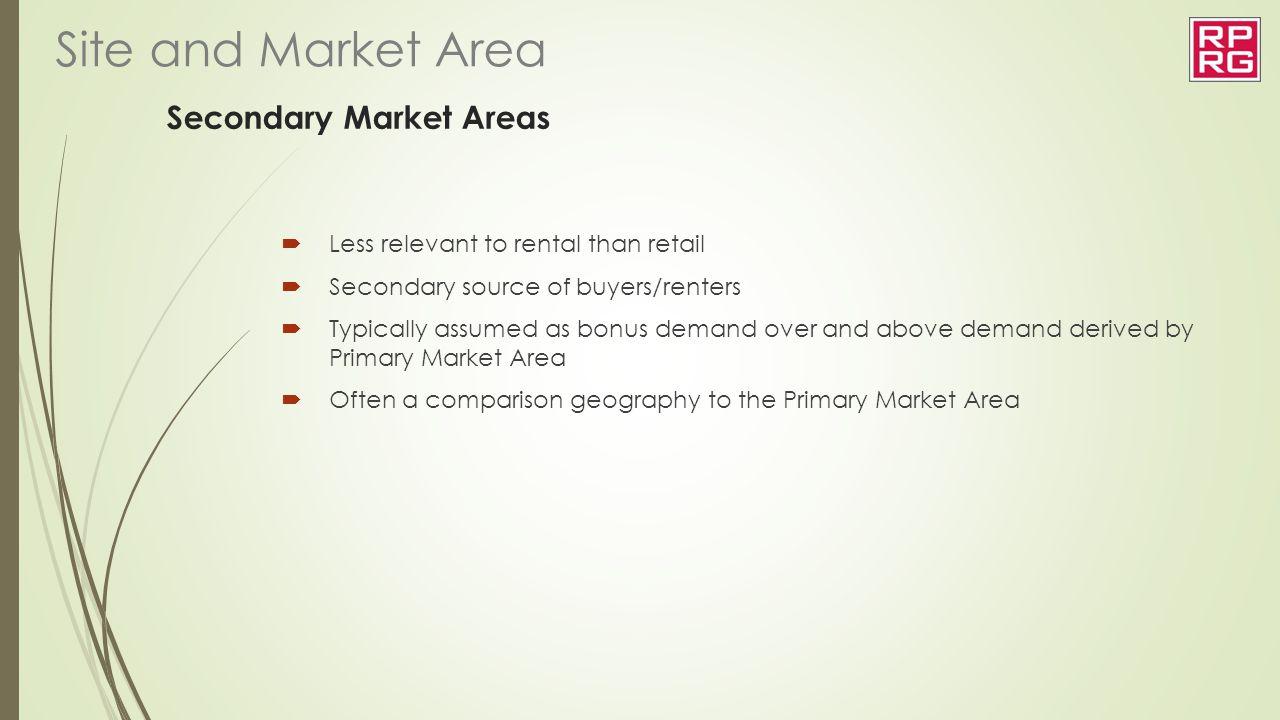 Secondary Market Areas