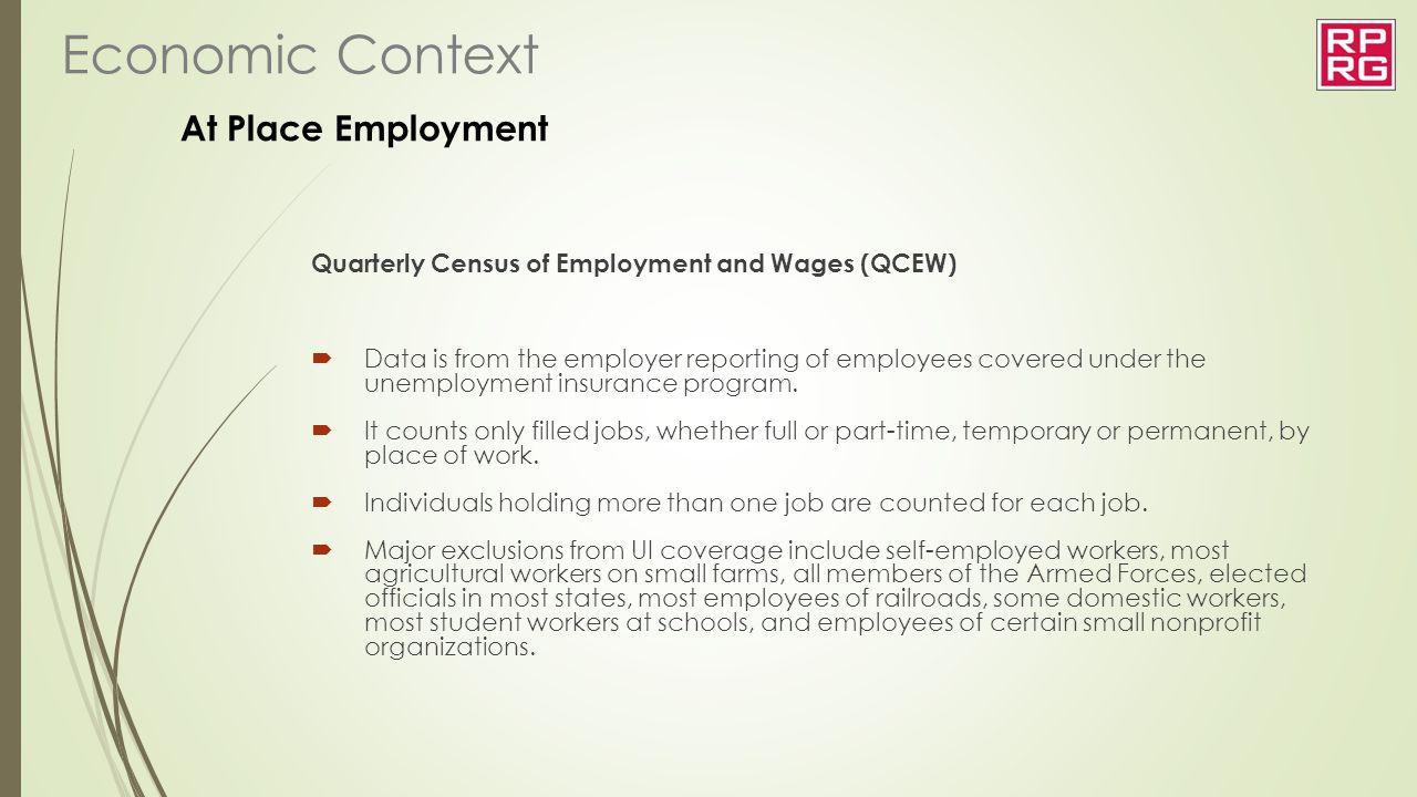 Economic Context At Place Employment