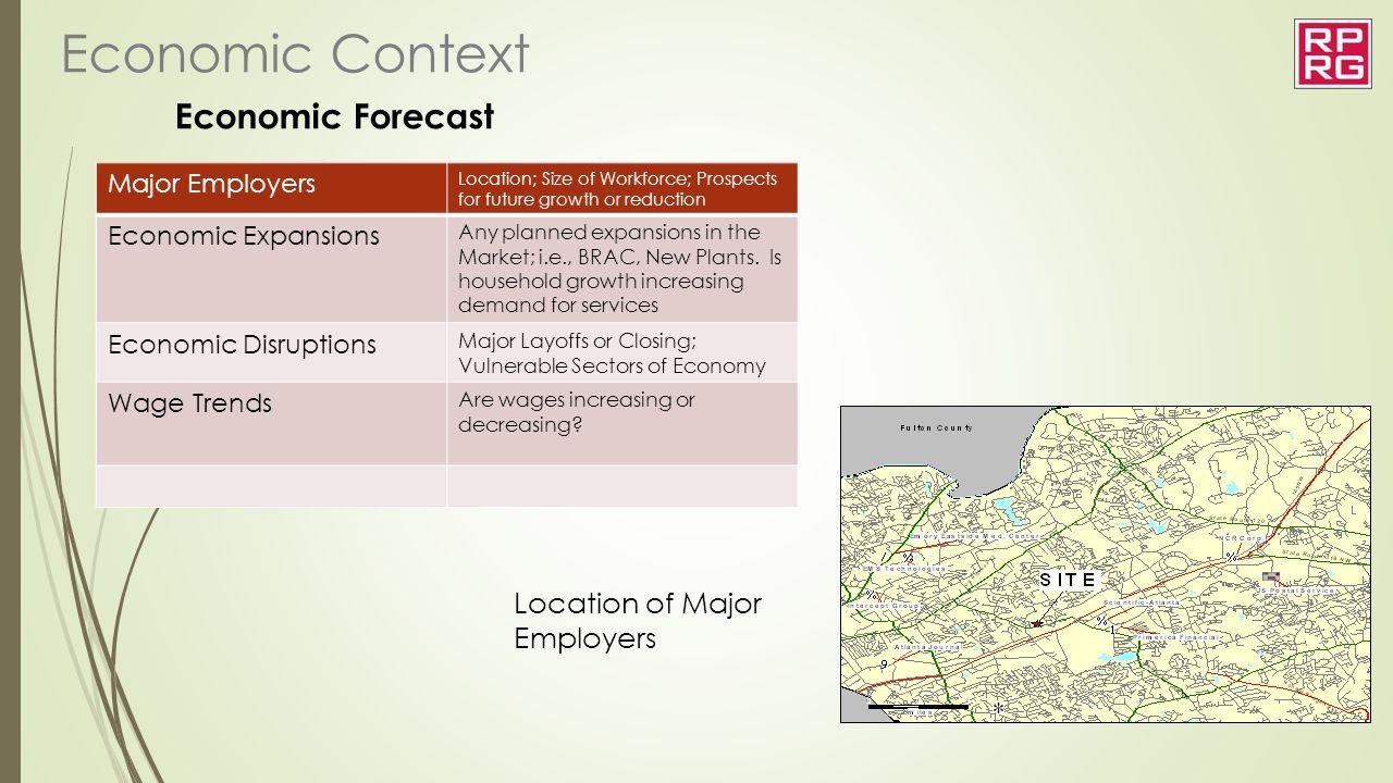 Economic Context Economic Forecast Location of Major Employers
