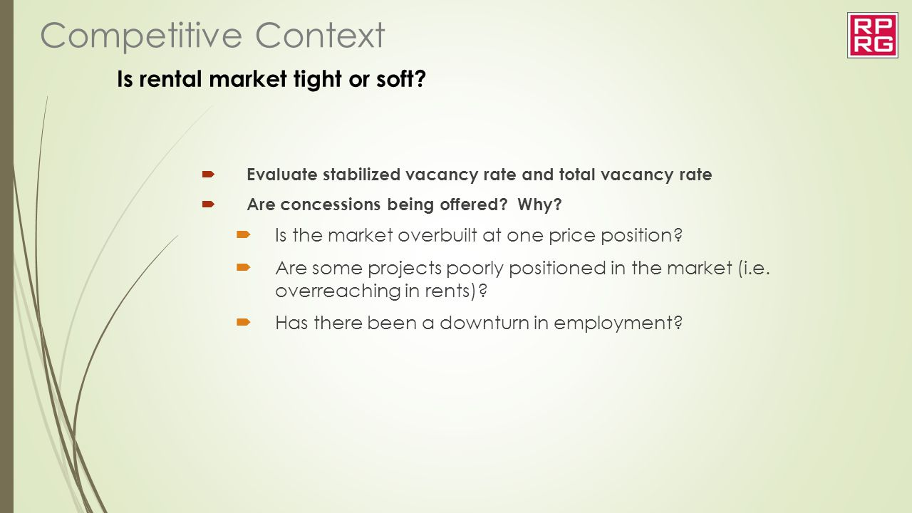 Is rental market tight or soft
