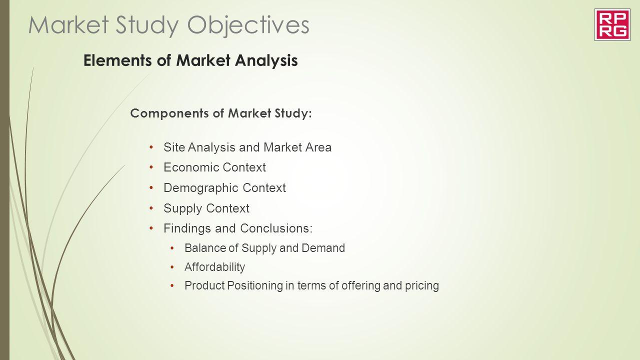 Elements of Market Analysis