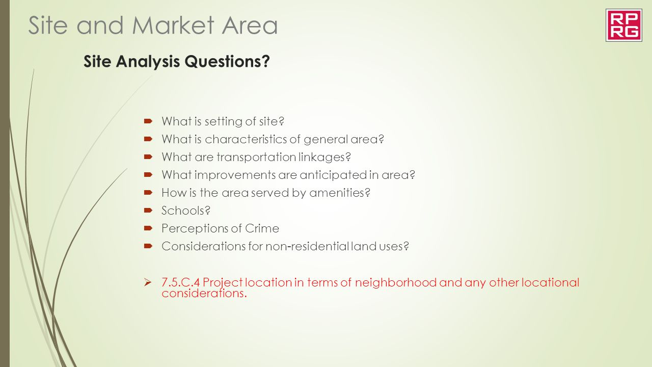 Site Analysis Questions