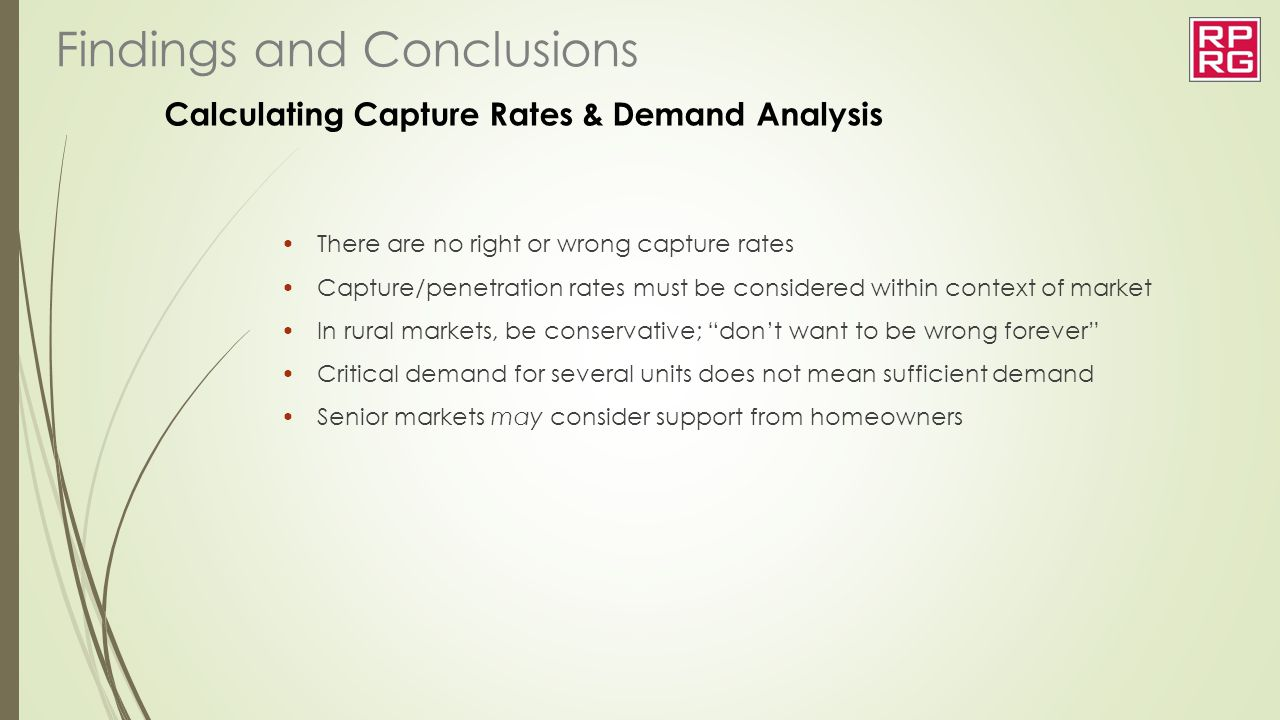 Calculating Capture Rates & Demand Analysis